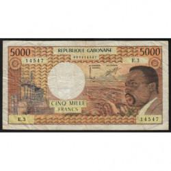 Gabon - Pick 4b - 5'000 francs - 1974 - Etat : TB