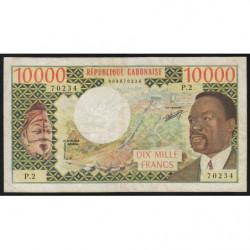 Gabon - Pick 5a - 10'000 francs - 1974 - Etat : TTB
