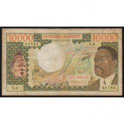 Gabon - Pick 5a - 10'000 francs - 1974 - Etat : TB-