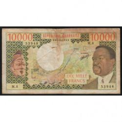Gabon - Pick 5a - 10'000 francs - 1974 - Etat : B+