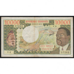 Gabon - Pick 5a - 10'000 francs - 1974 - Etat : TB+