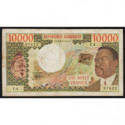 Gabon - Pick 5b - 10'000 francs - 1978 - Etat : TB-