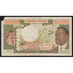Gabon - Pick 5b - 10'000 francs - 1978 - Etat : B+