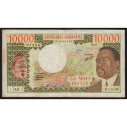 Gabon - Pick 5b - 10'000 francs - 1978 - Etat : TB+