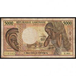 Gabon - Pick 6a - 5'000 francs - 1984 - Etat : TB-