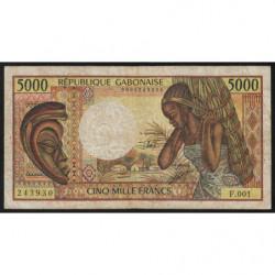 Gabon - Pick 6b - 5'000 francs - 1991 - Etat : B+