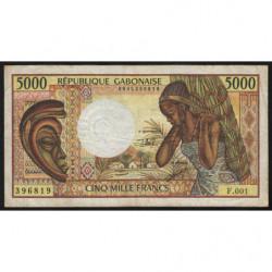 Gabon - Pick 6b - 5'000 francs - 1991 - Etat : TB