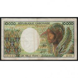 Gabon - Pick 7a - 10'000 francs - 1984 - Etat : B+