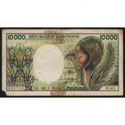 Gabon - Pick 7a - 10'000 francs - 1984 - Etat : B-
