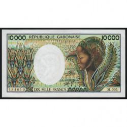 Gabon - Pick 7a - 10'000 francs - 1984 - Etat : SPL-