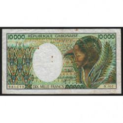 Gabon - Pick 7b - 10'000 francs - 1991 - Etat : TB
