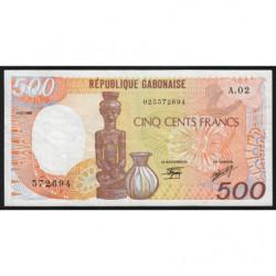 Gabon - Pick 8 - 500 francs - 1985 - Etat : TTB-