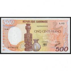 Gabon - Pick 8 - 500 francs - 1985 - Etat : SPL