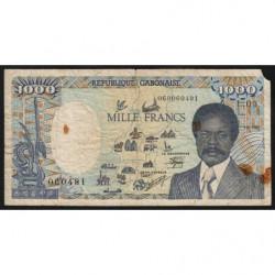 Gabon - Pick 10a_1 - 1'000 francs - 1986 - Etat : B