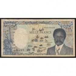 Gabon - Pick 10a_2 - 1'000 francs - 1987 - Etat : B+