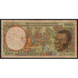 Gabon - Afr. Centrale - Pick 402La - 1'000 francs - 1993 - Etat : B