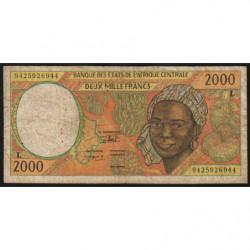 Gabon - Afr. Centrale - Pick 403Lb - 2'000 francs - 1994 - Etat : B