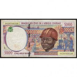 Gabon - Afr. Centrale - Pick 404La - 5'000 francs - 1994 - Etat : TTB