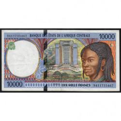 Gabon - Afr. Centrale - Pick 405La - 10'000 francs - 1994 - Etat : TTB