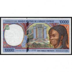 Gabon - Afr. Centrale - Pick 405Lb - 10'000 francs - 1995 - Etat : TTB+