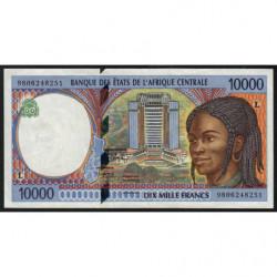 Gabon - Afr. Centrale - Pick 405Ld - 10'000 francs - 1998 - Etat : TTB+