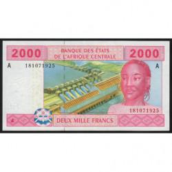 Gabon - Afr. Centrale - Pick 408Aa - 2'000 francs - 2002 - Etat : NEUF