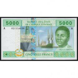 Gabon - Afr. Centrale - Pick 409Aa - 5'000 francs - 2002 - Etat : NEUF