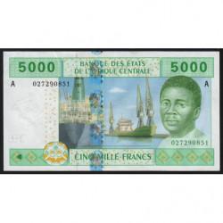 Gabon - Afr. Centrale - Pick 409Aa - 5'000 francs - 2002 - Etat : TTB
