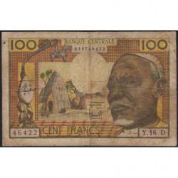 Gabon - Afrique Equatoriale - Pick 3d - 100 francs - 1963 - Etat : B+