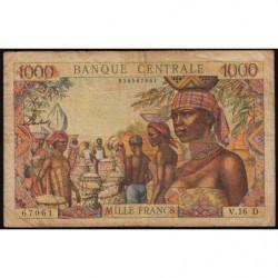 Gabon - Afrique Equatoriale - Pick 5h - 1'000 francs - 1963 - Etat : TB
