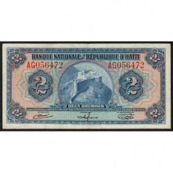 Haïti - Pick 186 - 2 gourdes - 1964 - Etat : TTB