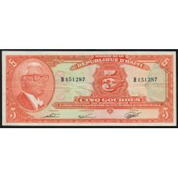 Haïti - Pick 232 - 5 gourdes - 1979 - Etat : TTB+