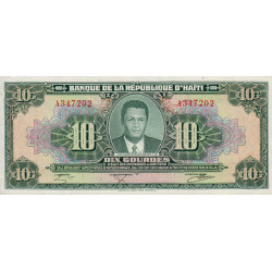 Haïti - Pick 242 - 10 gourdes - 1984 - Etat : NEUF
