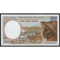 Gabon - Afr. Centrale - Pick 401Lg - 500 francs - 2000 - Etat : NEUF