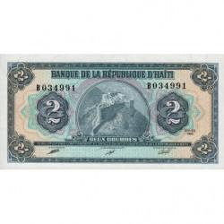 Haïti - Pick 254 - 2 gourdes - 1990 - Etat : NEUF