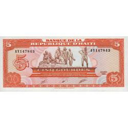 Haïti - Pick 255 - 5 gourdes - 1989 - Etat : NEUF