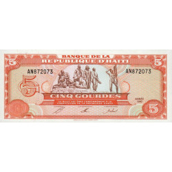 Haïti - Pick 261 - 5 gourdes - 1992 - Etat : NEUF
