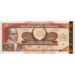 Haïti - Pick 271 - 20 gourdes or - 2001 - Commémoratif - Etat : NEUF