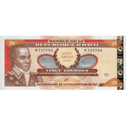 Haïti - Pick 271A - 20 gourdes argent - 2001 - Commémoratif - Etat : NEUF