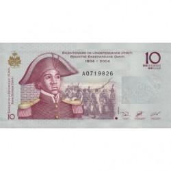 Haïti - Pick 272a - 10 gourdes - 2004 - Commémoratif - Etat : NEUF