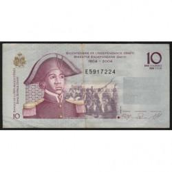 Haïti - Pick 272c - 10 gourdes - 2008 - Commémoratif - Etat : TTB