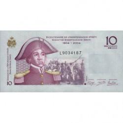 Haïti - Pick 272e - 10 gourdes - 2012 - Commémoratif - Etat : NEUF