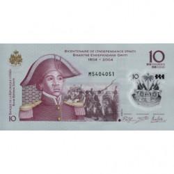 Haïti - Pick 279 - 10 gourdes - 2013 - Polymère commémoratif - Etat : NEUF