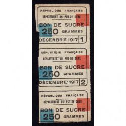 63-Puy-de-Dome - Rationnement - Sucre - 12/1917 - Etat : TB