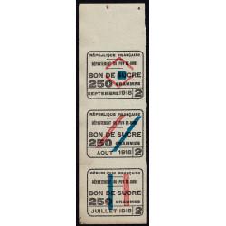 63-Puy-de-Dome - Rationnement - Sucre - 07/1918 à 09/1918 - Etat : SUP