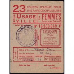 13-Saintes-Maries-de-la-Mer - Coupon achat chaussures - Réf : 23/1 - 1947 - Etat : SUP