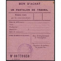 13-Bouches-du-Rhône - Bon d'achat pantalon de travail - Etat : SUP