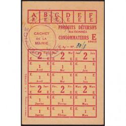 Rationnement - Produits détersifs - Titre 637465 - 1947 - Catégorie E - Cavaillon (84) - Etat : SUP