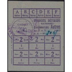 Rationnement - Produits détersifs - Titre 637463 - 1947 - Catégorie Autres - Cavaillon (84) - Etat : SUP