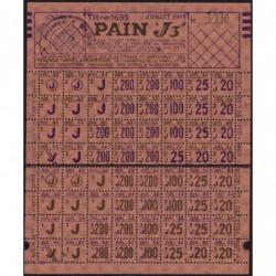 Rationnement - Pain - Titre 1685 - 07/1944 - Catégorie J3 - Monteux (84) - Etat : SUP